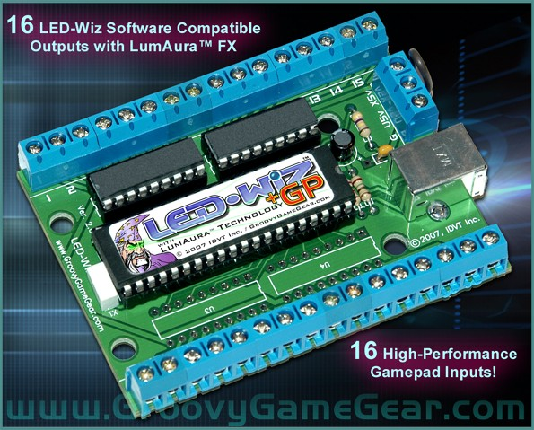 Led Wiz Gp 16 Out 16 In Output And Gaming Controller