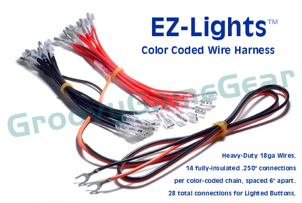 EZ-Lights (tm) Color Coded Wire Harness for Lighted Buttons ...